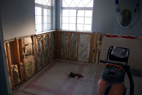 The Hubs/tub area before