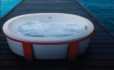 Jacuzzi Riva Freestanding Tub courtesy of Quality Bath
