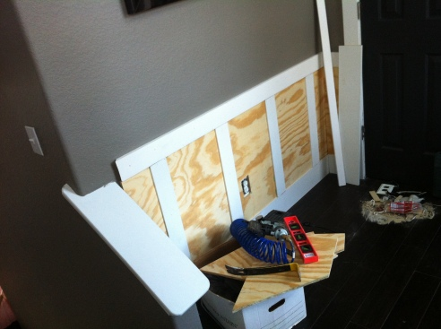 Installing the plywood panels