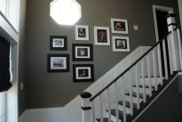 After: Photo Wall (I'm missing a couple of pictures b/c I need a few more frames)
