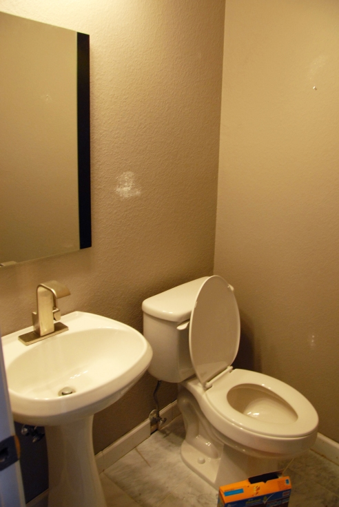 Our small powder room/half bath